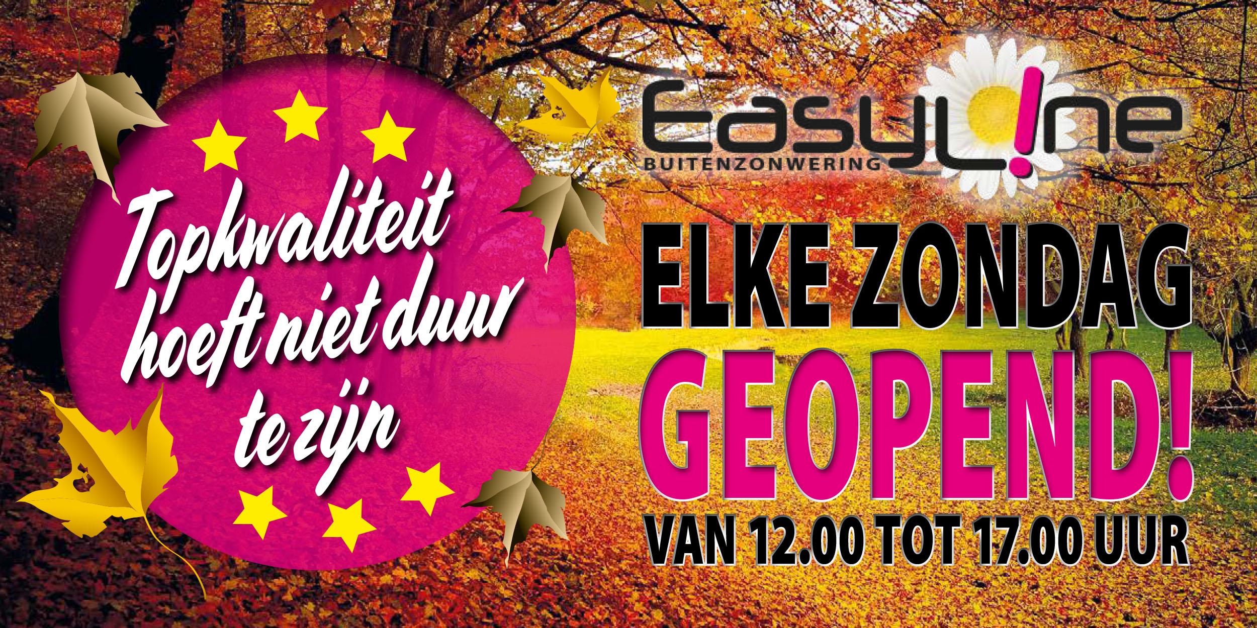 Easyline zonwering zondag kopen