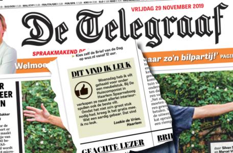 de Huiscomponist in de Telegraaf